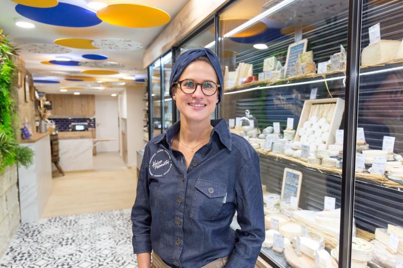 Amélie, fromagère de la Maison Frometon à Nantes
