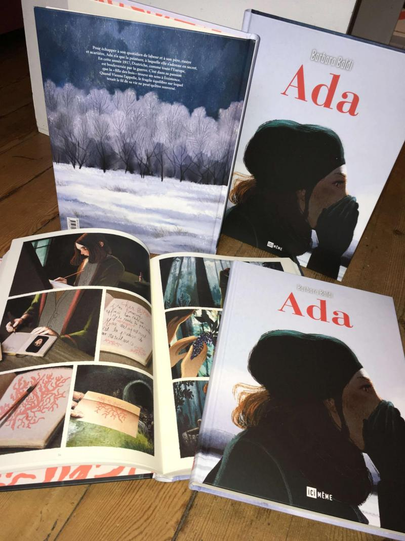 Ada, Barbara Baldi, peinture, bd, roman graphique, ici même editions